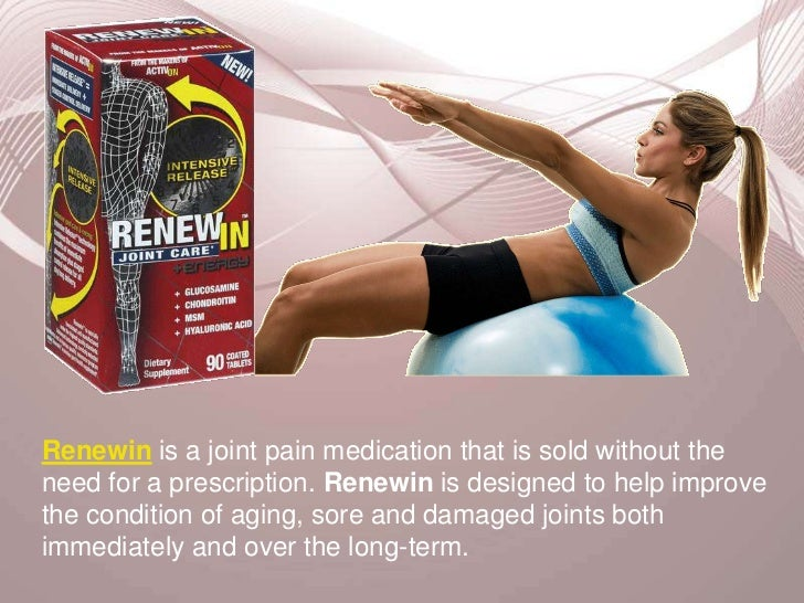 Renewin is a joint pain medication that is sold without the need for a prescription. Renewin is designed to help improve t...
