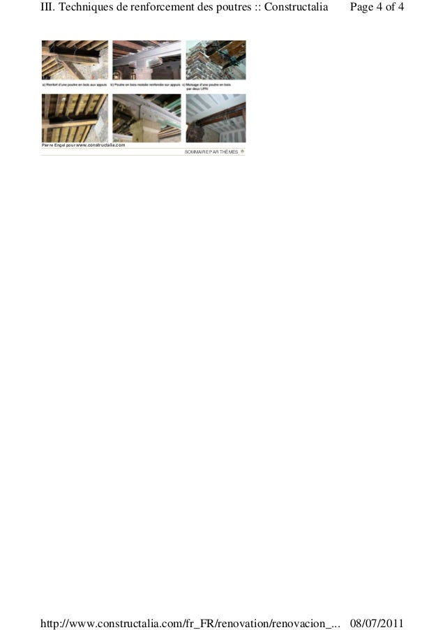 Renforcement poutre acier bois patho # Renforcement Poutre Bois
