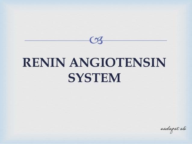  RENIN ANGIOTENSIN SYSTEM sadaqat ali