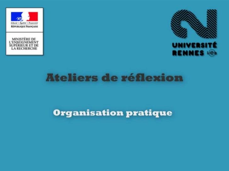 Ateliers préparation Rennes