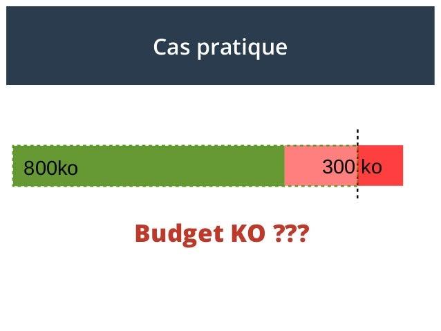 Budget KO??? 800ko 300 ko Cas pratique