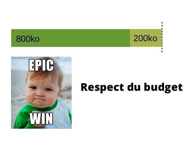 Respect du budget 200ko800ko