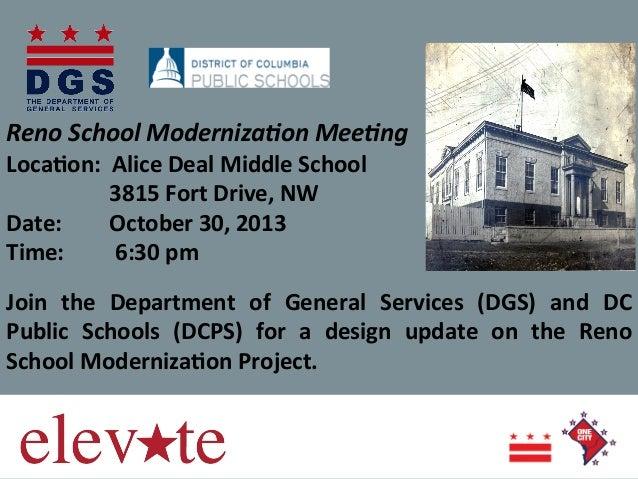 Reno  School  Moderniza0on  Mee0ng        Loca%on:    Alice  Deal  Middle  School          ...