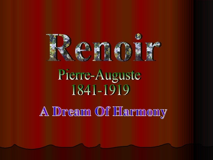Renoir Pierre-Auguste 1841-1919 A Dream Of Harmony