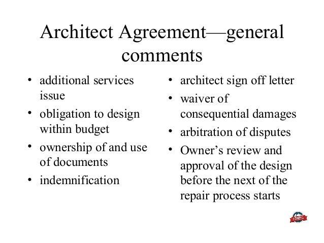 Renovate repair legal issues owner view architect agreementgeneral platinumwayz
