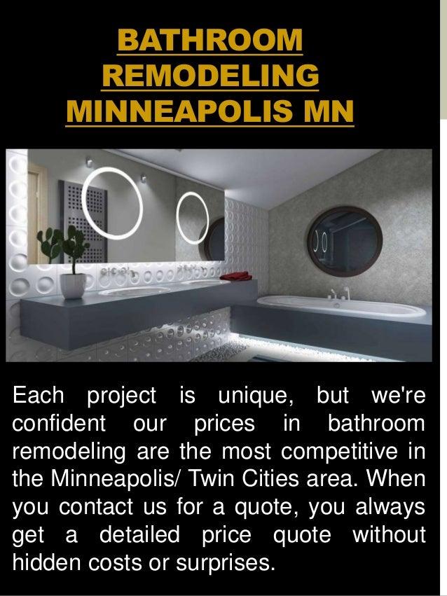 Bathroom Remodel Minneapolis - Bathroom remodel cost minneapolis