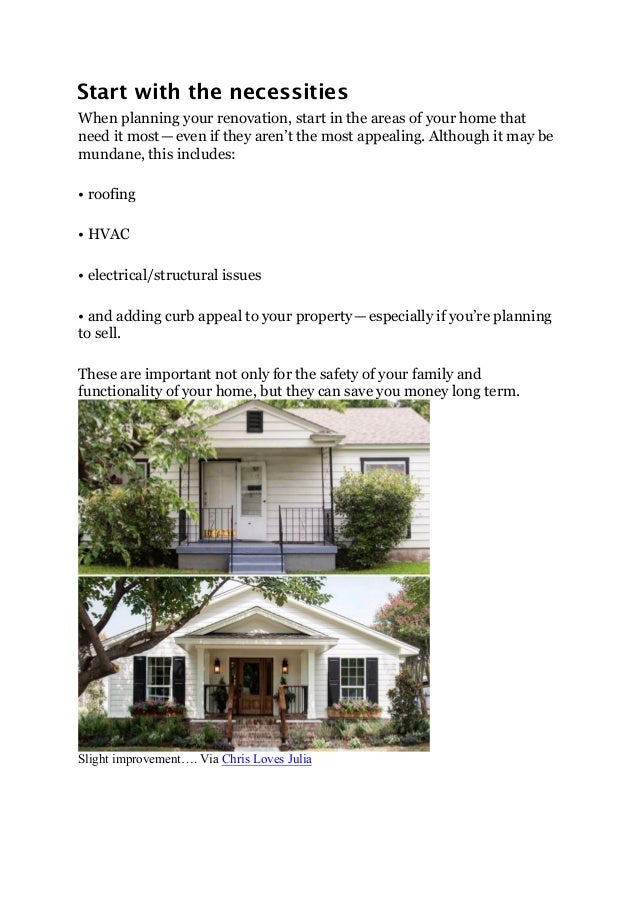 Renovating On A Budget Which Areas Of Your Home To Invest
