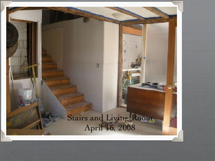 Stairs and Living Room April 16, 2008