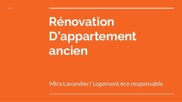 Rénovation D'appartement ancien Mira Lavandier/ Logement éco responsable