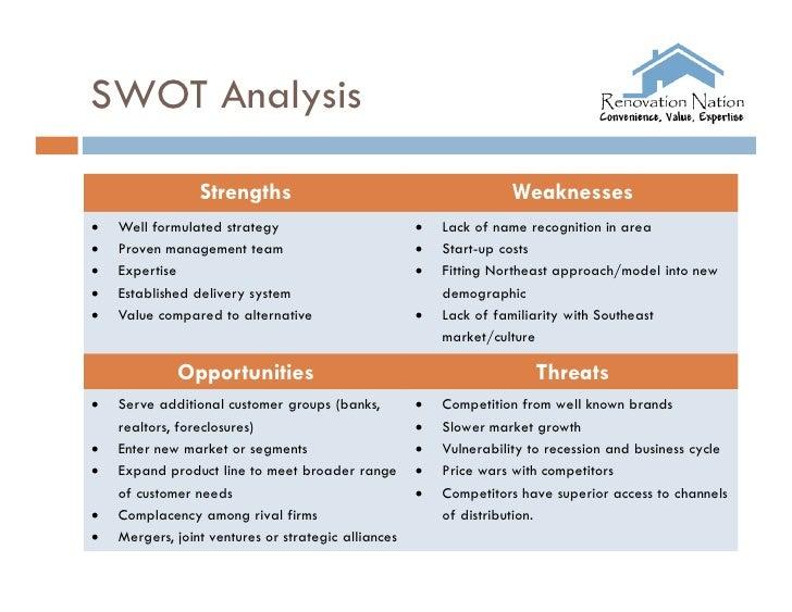 lowes swot analysis