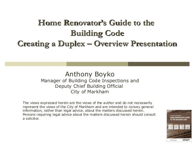 Home renovator 39 s guide to the building code creating a for Home building guide