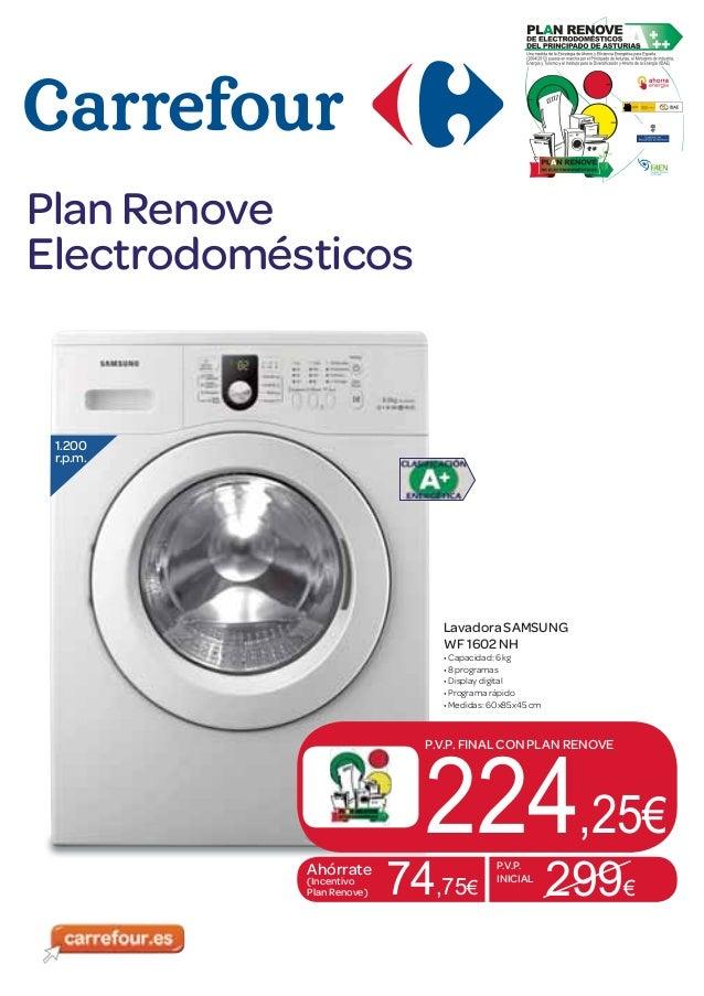 Folleto plan renove electrodom sticos for Mueble lavadora carrefour