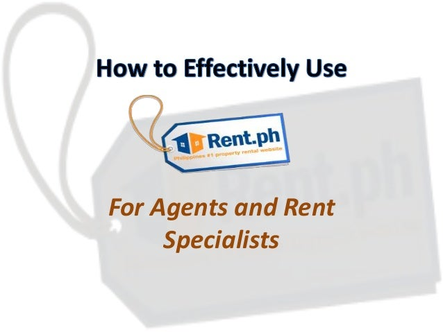 For Agents and Rent Specialists