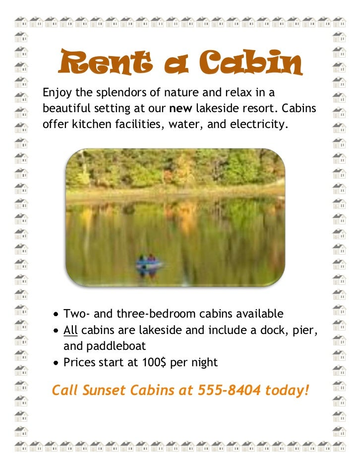 Rent a Cabin<br />5143501351915Enjoy the splendors of nature and relax in a beautiful setting at our new lakeside resort. ...