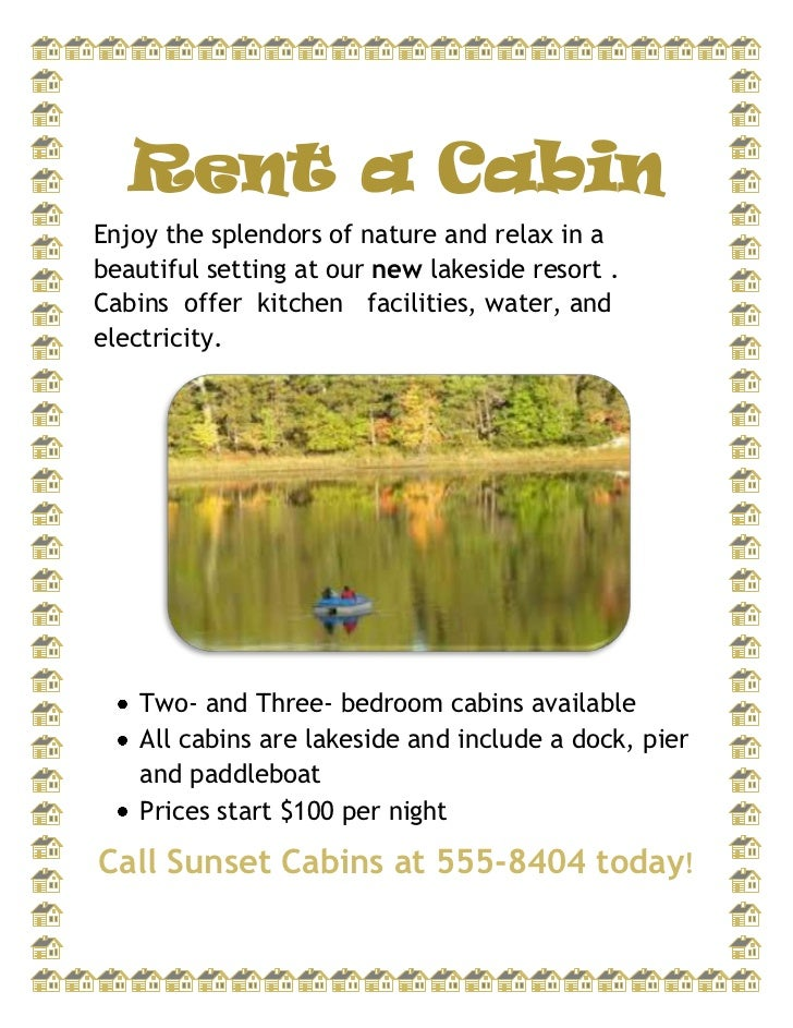 Rent a Cabin<br />Enjoy the splendors of nature and relax in a beautiful setting at our new lakeside resort .  Cabins  off...