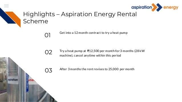 Rent a heat pump