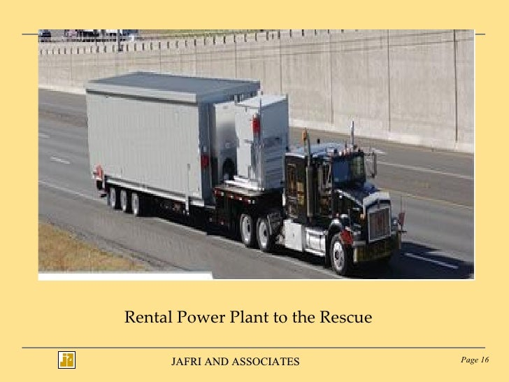 Rental Power Plant to the Rescue