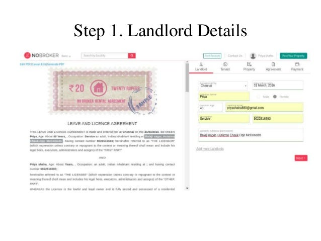 Rental Agreement Lease AgreementRent Agreement Bangalore Ppt  Nobr