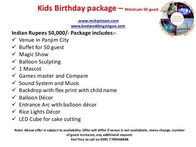 7 Kids Birthday Package