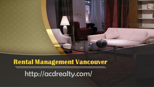 Rental Management Vancouver