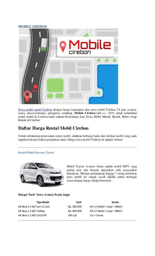 Rental Mobil Cirebon Feat Mobilecirebon
