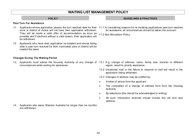 Rental Policy Manual
