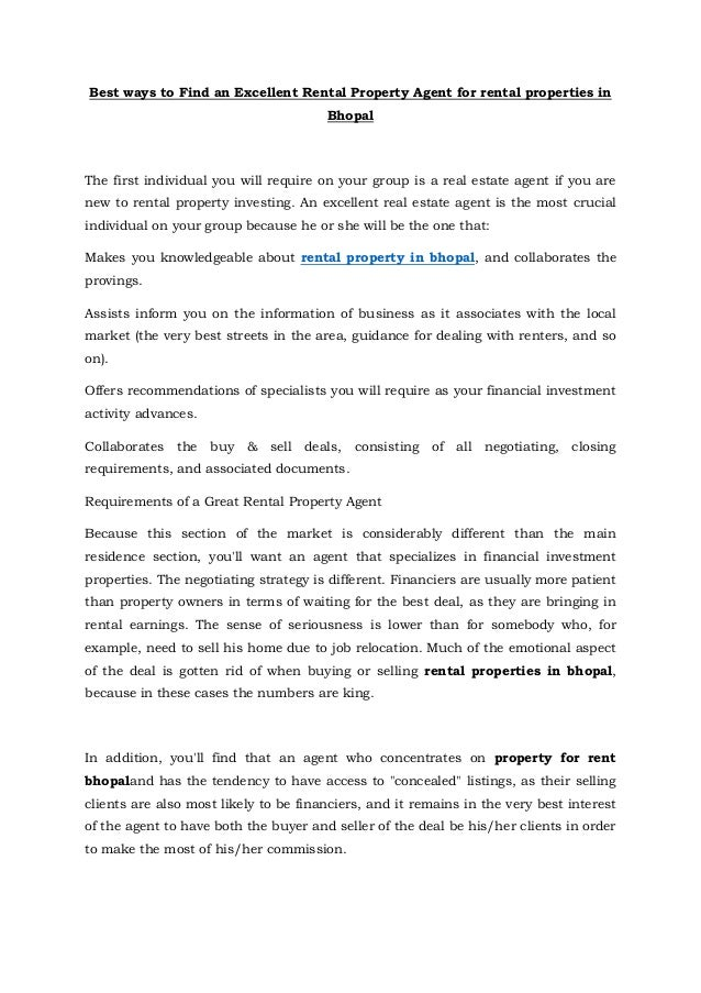 Rental property in bhopal, rental properties in bhopal