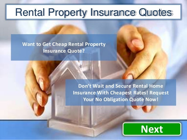 rental property insurance quote