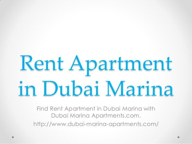 Rent apartment in dubai marina