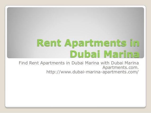 Rent apartments in dubai marina