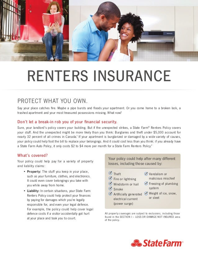 RENTERS INSURANCE Whatu0027s Covered? Your Policy Could Help Pay For A Variety  Of Property And ...