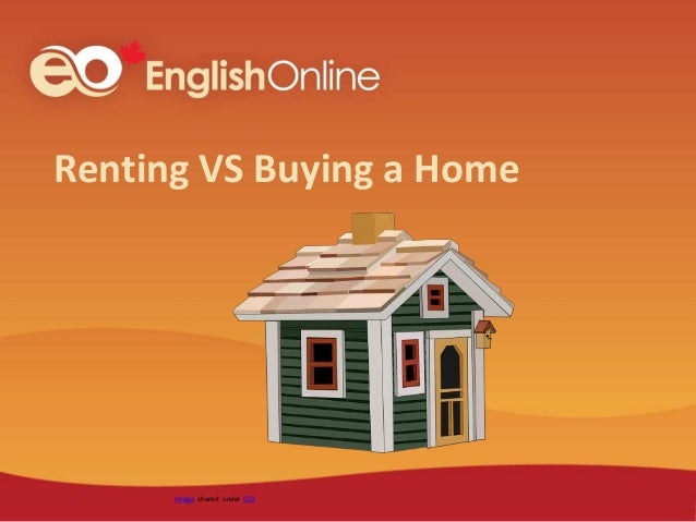 Renting VS Buying a Home Image shared under CC0