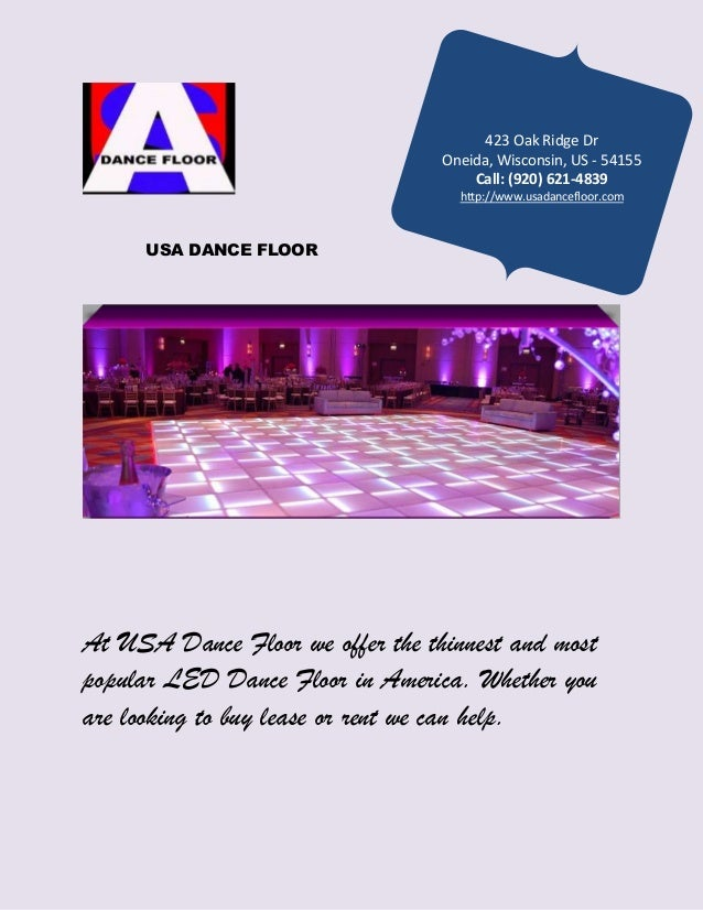 Rent Led Dance Floor - Led dance floor for sale usa