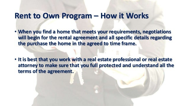 Rent to Own Your Home Kansas City – Rent to Own Agreement