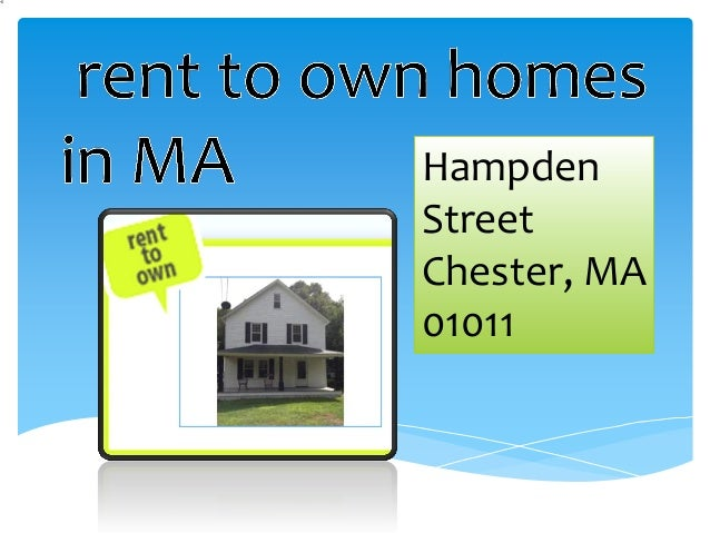 Rent To Own Homes In Ma