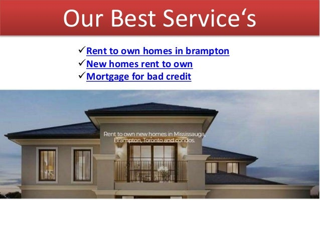 Rent to own homes in mississauga