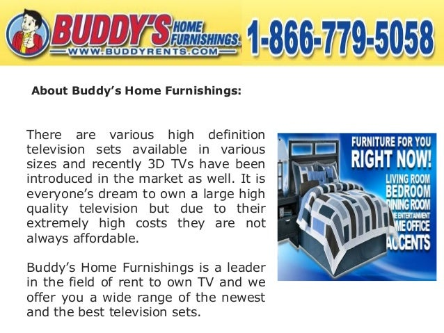 Rent To Own Television From Buddy S Home Furnishings
