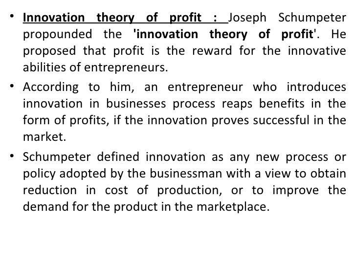 Profit theories.