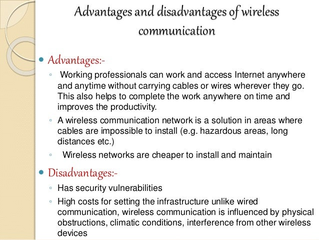 essay on benefits of wireless technology Wireless or wireless technology is an electromagnetic transmission medium that does not require a cable that is emitted through the medium of the air by a wave frequencies that can be used by the satellite, infrared rays, as well as satellites with the wireless technology make people more easy to do things with distances though.