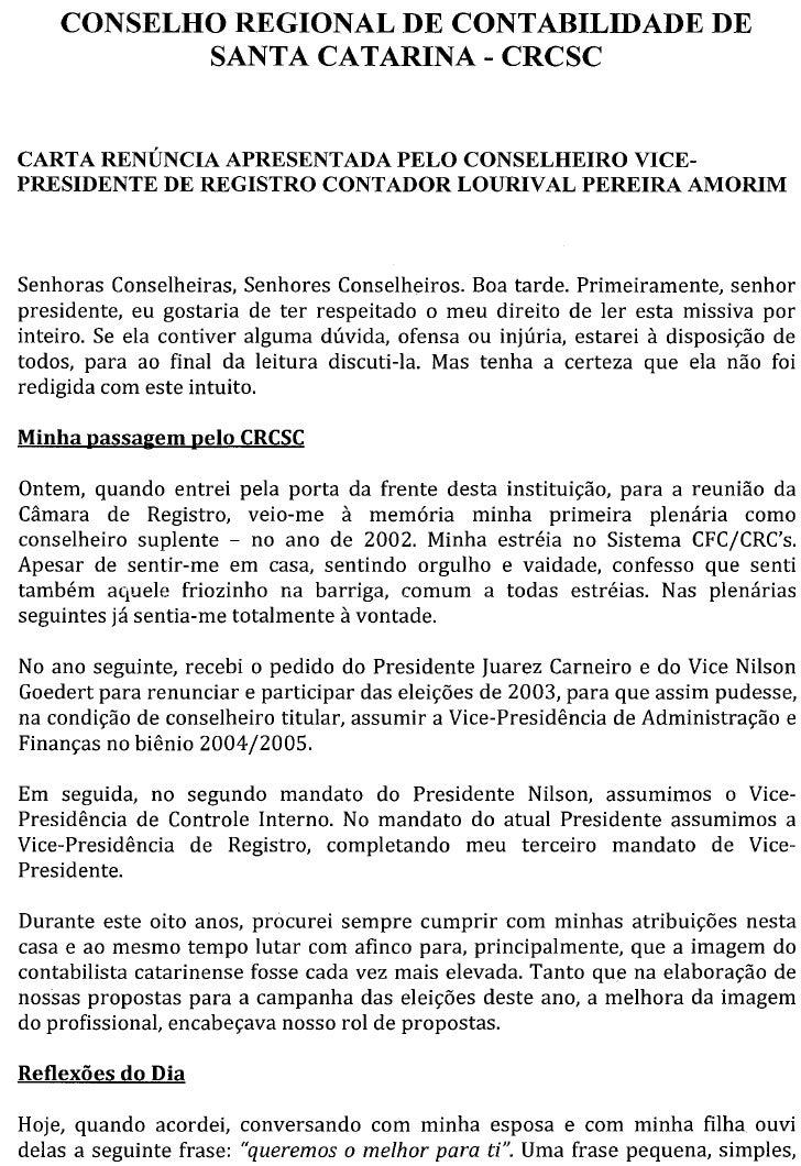 Conselho Regional de Contabilidade de Santa Catarina - CRCSC