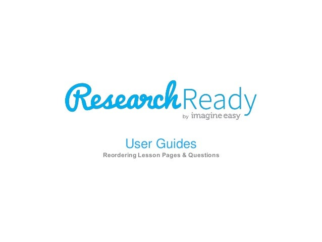 User Guides Reordering Lesson Pages & Questions