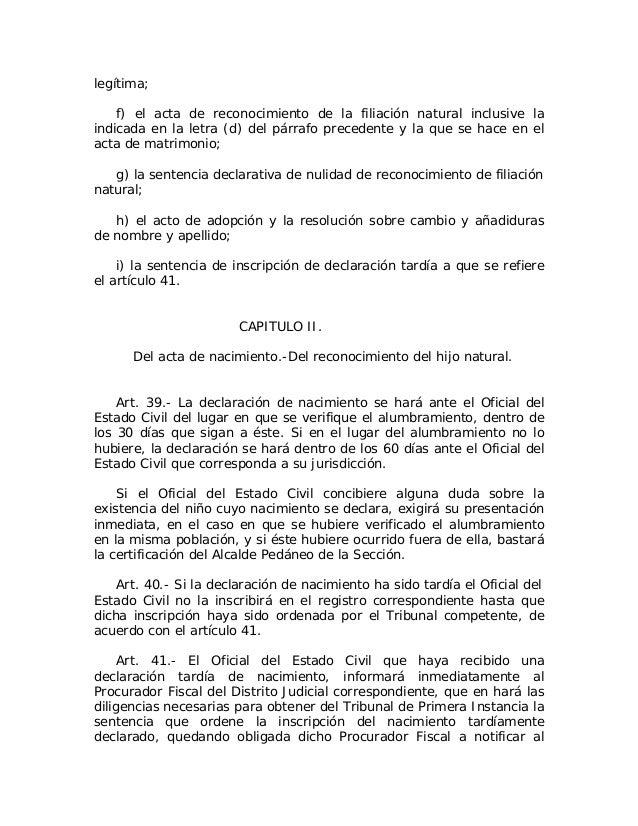 Rep. Dominicana. Ley no. 659, del 17 de julio de 1944, sobre actos de…