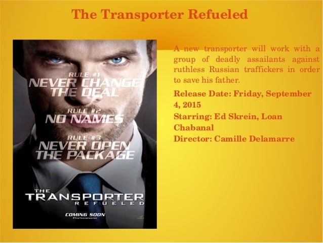 ... Aleksander Bach; 9. The Transporter ...