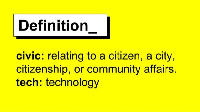 Civic Tech – of the people, by the people and for the people Slide 2