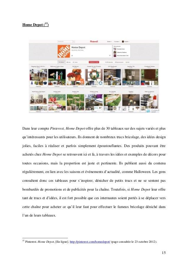 Home Depot (15)Dans leur compte Pinterest, Home Depot offre plus de 30 tableaux sur des sujets variés et plusqu'intéressan...