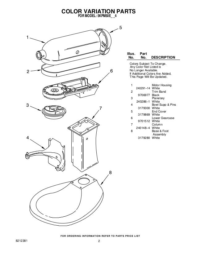 Kitchenaid Stand Mixer Parts