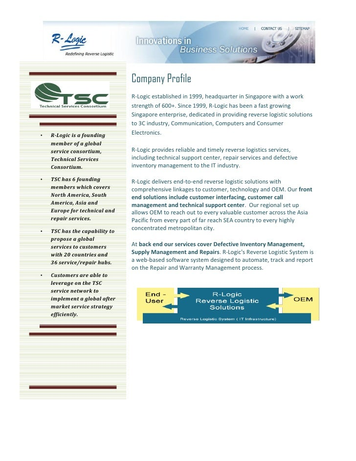Company Profile                                R-Logic established in 1999, headquarter in Singapore with a work          ...