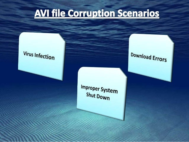 how to fix corrupted video files avi
