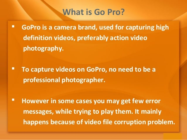 Easiest Way to Repair Corrupted GoPro Video Files