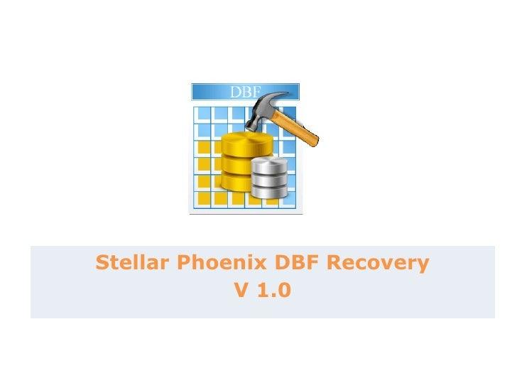 Stellar Phoenix DBF Recovery V 1.0